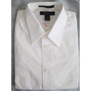 Express - Fitted Dress Shirt - White - Large